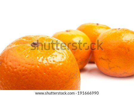orange mandarines