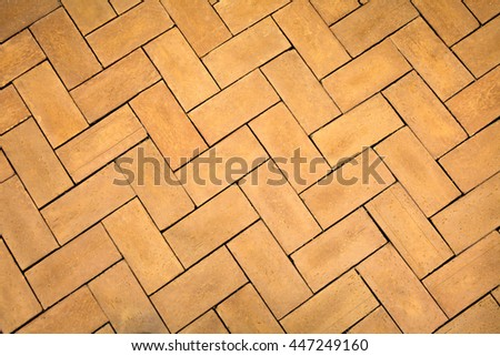 Orange medieval style flooring texture for background