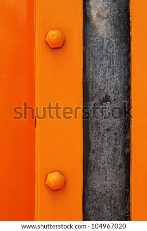 orange metal grunge background