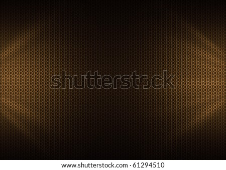 Orange Metal Plating & light ray - stock photo
