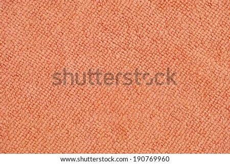 Orange Microfiber cloth background - stock photo