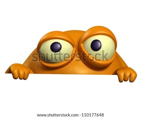 orange monster - stock photo