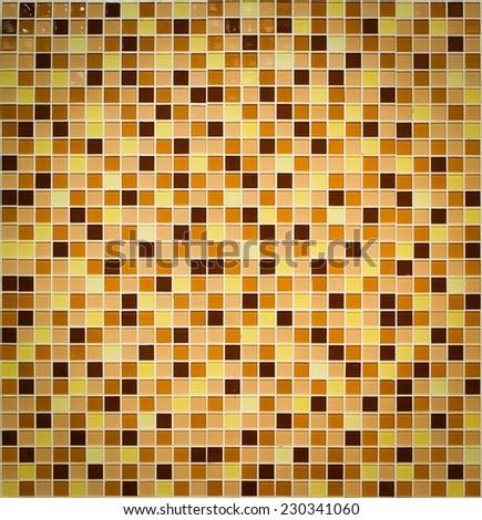orange mosaic - stock photo