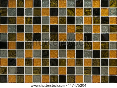 orange mosaic tiles,pattern seamless for decoration - stock photo