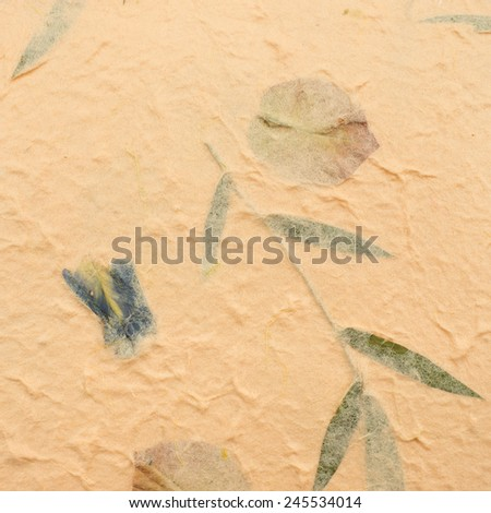 Orange mulberry paper for texture and background