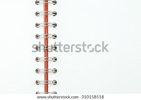 orange notebook isolated on white background