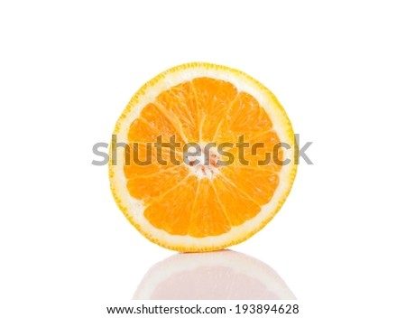 orange on white background isolated with space for text