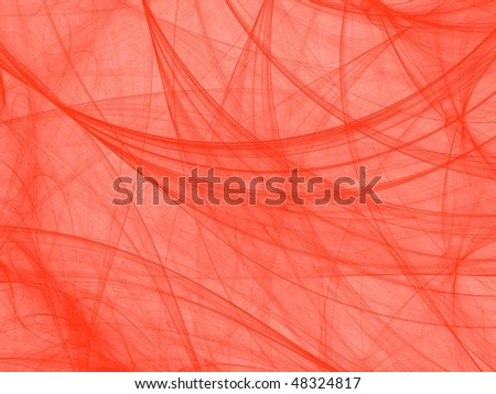Orange on white fractal image, fantasy cobweb