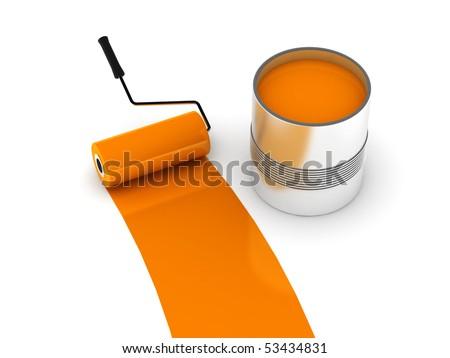 Orange Paint Mesmerizing Orange Paint Can Stock Images Royaltyfree Images & Vectors Inspiration Design