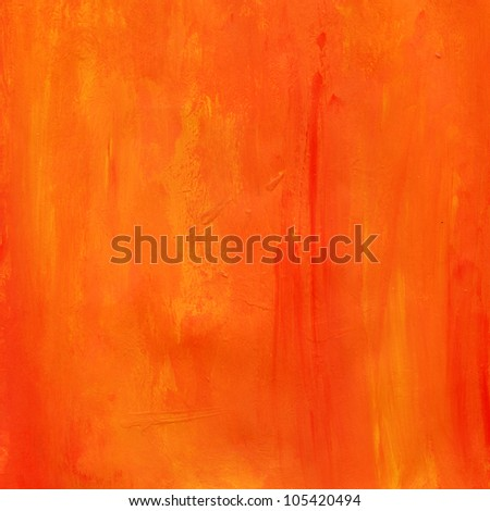Orange Paint Water Color Paper Texture Background Scrapbooking - stock photo