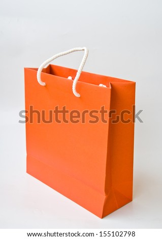 Orange Shopping Bag Stock Photos, Royalty-Free Images & Vectors ...