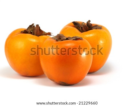 Orange persimmon isolated on a white background