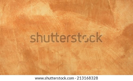 Orange Plastered Wall Background  - stock photo
