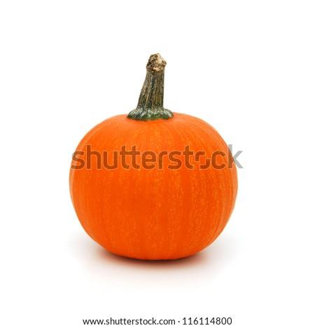Orange Pumpkin isolated on white background - stock photo