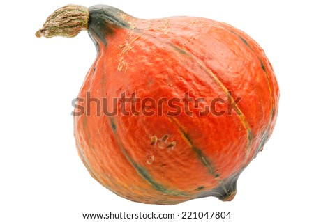Orange pumpkin isolated on white background.