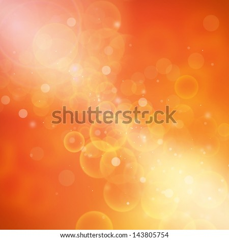 Orange Red and Yellow Background Bokeh and out of focus lights - stock photo
