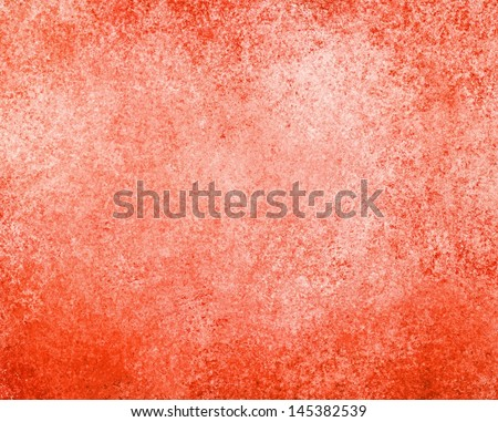 Orange Red Background White Sponge Texture Wall Paint Design Layout Abstract Solid