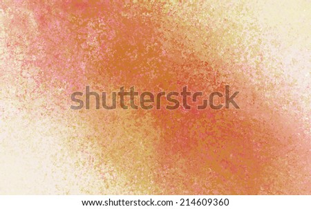 orange red yellow and beige background with bright warm color splash design element angled from corner to corner, distressed old vintage textured paper with red crackled painted center - stock photo