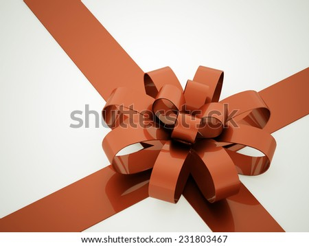 Orange ribbon concept rendered
