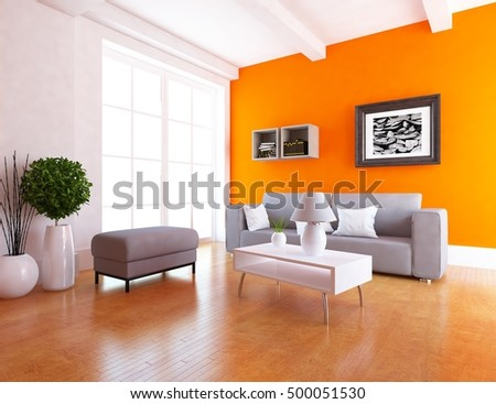 sofa pictures living room. orange room with sofa  Living interior Scandinavian 3d illustration White Room Sofa Interior Stock Illustration 561778843
