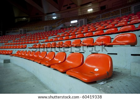 Orange seat - stock photo