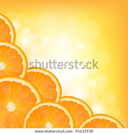 Orange Segment Frame - stock photo