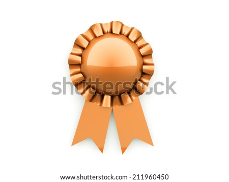Orange signet rendered on white background isolated