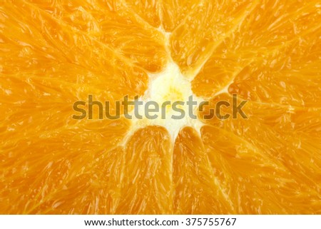 orange slice closeup in the form of a texture