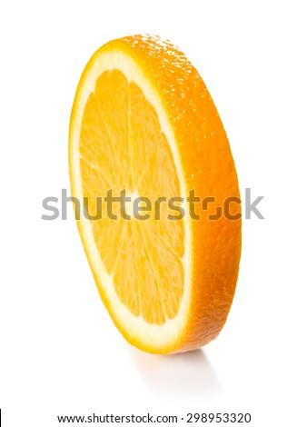 orange slice isolated on the white background - stock photo