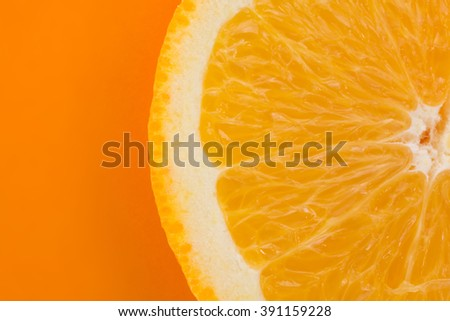 Orange Slice on an Orange Background