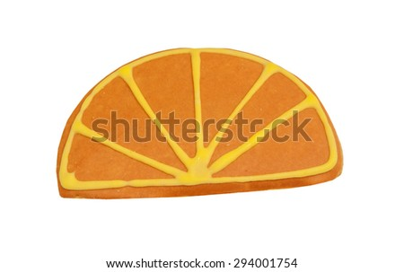 Orange slice shaped Butter Cookie - stock photo