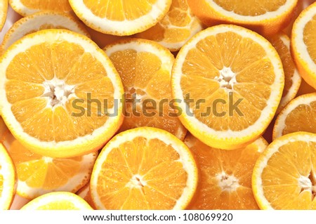 Orange slices background