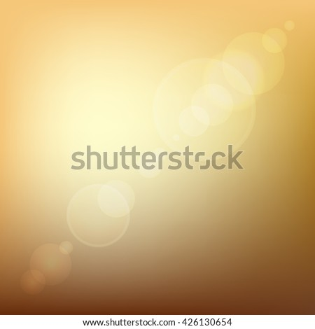 Orange Soft Colored Abstract Background with Lens Flare Light. illustration - stock photo