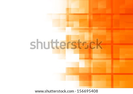 orange square abstract background  - stock photo