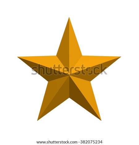Orange star on white background