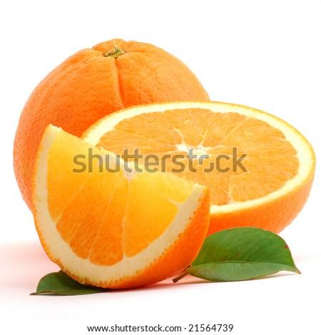Orange studio isolated on white background - stock photo