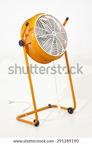 Orange studio ventilator - stock photo