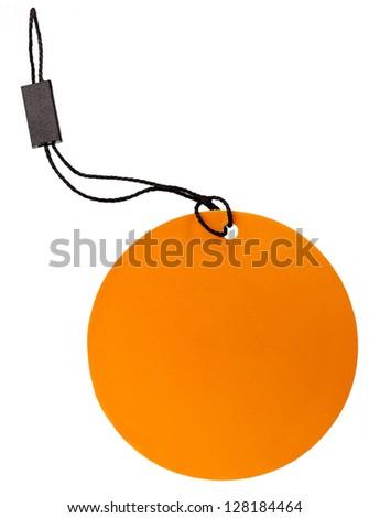 Orange tag - stock photo