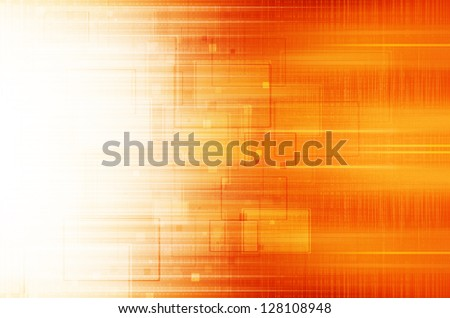 Orange technical background. - stock photo