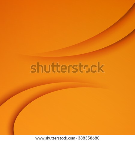 Orange  Template Abstract background with curves lines and shadow. For flyer, brochure, booklet and websites design. Orange wave. Orange background