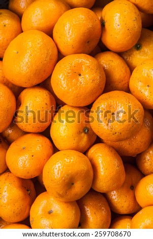 Orange Thai Fruit - stock photo