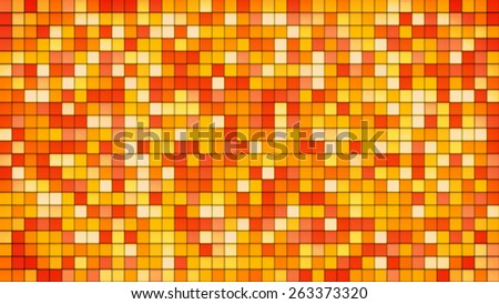 orange tiles glass mosaic. computer generated abstract background - stock photo