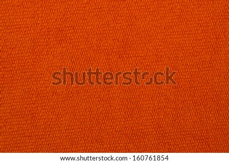 Orange towel texture as a background