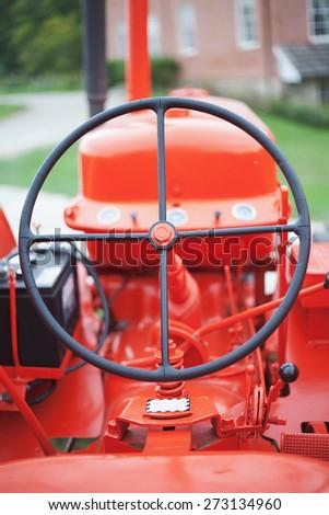 Orange Tractor - stock photo