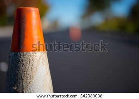 Orange Traffic Cone - stock photo