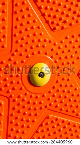 Orange Twist  Board for Fitness Texture - stock photo