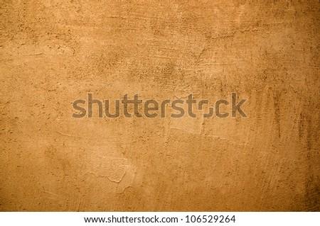 Orange  wall texture or background - stock photo