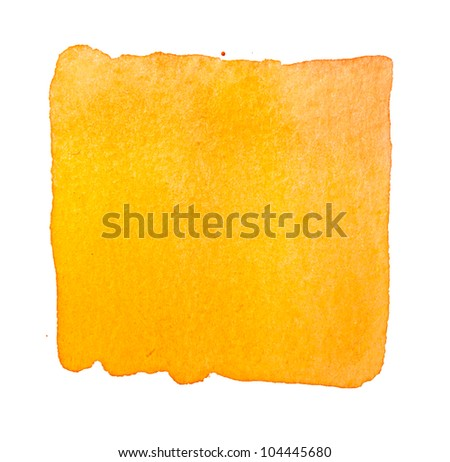 orange watercolor background - stock photo