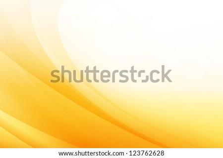 Orange Wave Abstract Background - stock photo