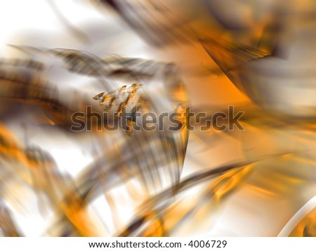 Orange waves pattern - abstract dreamy background